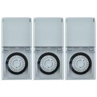 3x Zeitschaltuhr mechanisch IP44 30 Min-Takt