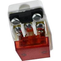 Schutzkontakt-Winkelstecker mit beleuchtetem Schalter