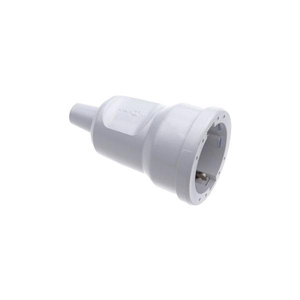 ABL PVC Schutzkontakt-Kupplung weiß