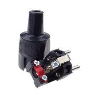ABL PVC Schutzkontakt-Stecker schwarz