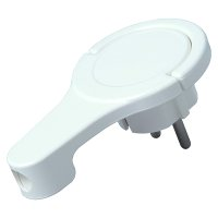 Kopp Winkelstecker (extraflach) weiß