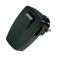 Kopp Winkelstecker mit Schalter schwarz